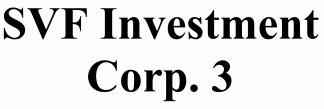 SVF Investment Corp 3 ECM- Mar21