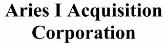 Aries I Acquisition Corporation