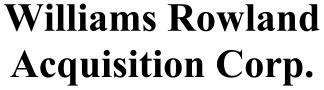 Williams Rowland Acquisition Corp ECM- Jul21